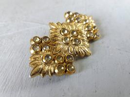 Gold tone brooch for women Vintage statement bohemian style brooch Rusti... - $25.00