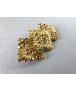 Gold tone brooch for women Vintage statement bohemian style brooch Rusti... - $25.00