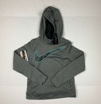 Nike Sweater Hoodie Therma Standard Fit Gray Girls Sz M NEW NWT - $29.99