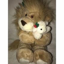 "The Lion and The Lamb Stuffed Animal Christmas 14"" Plush Festive Holiday... - $25.00"