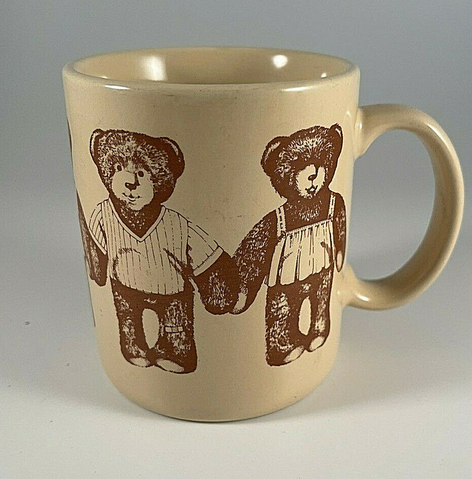 Primary image for Hallmark Vintage Teddy Bear Coffee Mug Tea Cup Teddy Sketches 1980's Japan