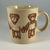 Hallmark Vintage Teddy Bear Coffee Mug Tea Cup Teddy Sketches 1980's Japan - $9.85