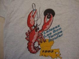 Vintage Laissez Les Bon Temps Rouler 1993 Louisiana Bowling T Shirt Size L - $15.83