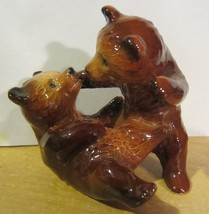 Vintage Goebel brown bear cubs playing - $23.70