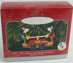 Hallmark Keepsake The Mickey & Minnie Handcar Disney Ornament 1998 - $8.57