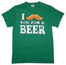 """Delta Pro Weight """"I Kiss You For A Beer!"""" Men's Green Cotton T-SHIRT New - $6.75"""