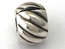 Originale Pandora Piumato Clip, Argento Sterling,Ciondolo,791752 Nuova - $38.94