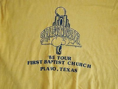 Primary image for Vintage Shekinah '85 Tour First Baptist Church Plano Texas T Shirt Men's Size M