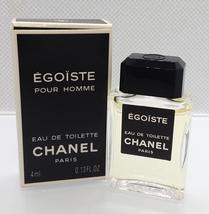 Vtg Mini Eau Toilette ✿ Chanel Egoiste ✿ Parfum Perfume Paris (4ml. 0.13 Fl.Oz) - $16.99