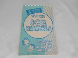 Old Vtg 1946/1957 Leister Game Co. Party Game Book ICE BREAKERS Toledo O... - £7.81 GBP