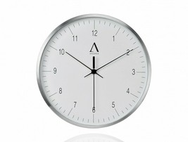 Wall Clock White Aluminium Metal Multicolor 30 Cm Watch Vintage Handmade - $156.24