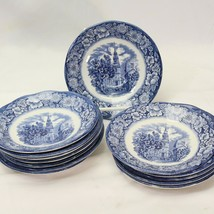 "Staffordshire Liberty Saucers Old North Church 5.75"" Lot of 13 - $39.19"