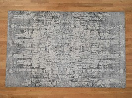 6'x9' THE TREE BARK Abstract HandKnotted Soft Wool Rug G42196 - $1,348.90