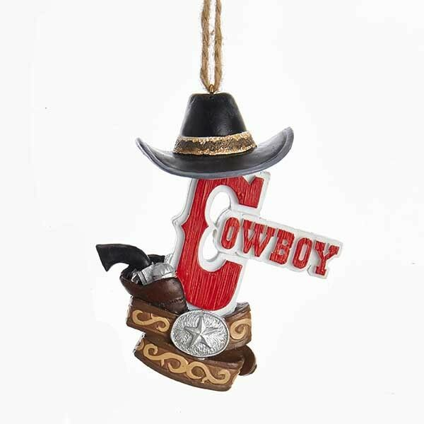 Cowboy & Cowgirl w/Hat Ornaments
