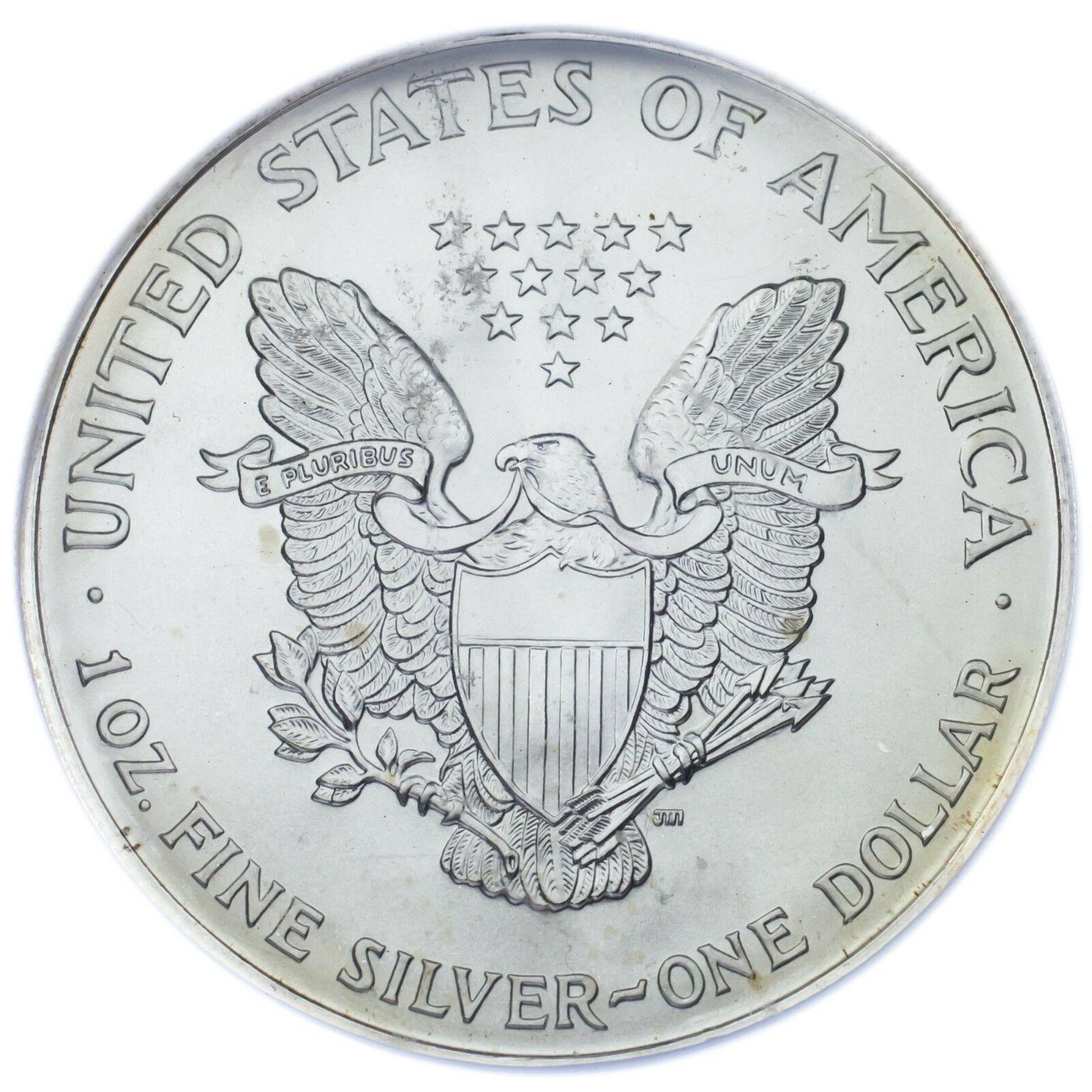 1994 Silber American Eagle Ausgewählten von ICG As MS69 ! Atemberaubend Adler image 4