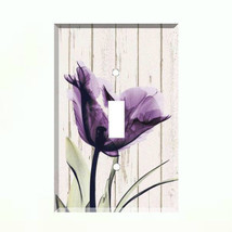 Purple Poppy X Ray Light Switch Plate Wall Cover Flower - $6.88+