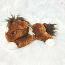 "10"" Aurora Horse Pony Plush Brown & White Laying Soft No Beans B215 - $16.97"