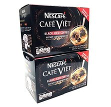 Nescafe Cafe Viet Black Iced Coffee Instant Coffee 15 Packets X 2 Packs - $21.77