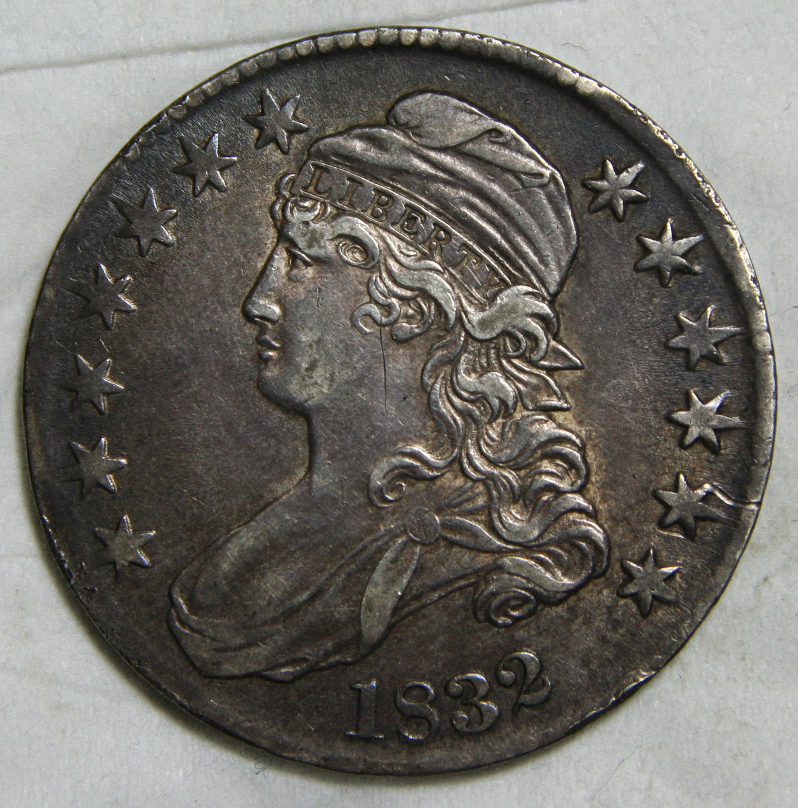 1832 Capped Bust Half Dollar 50¢ Coin Lot# C 36