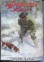 Popular Magazine 1/20/1922-Anton Otto Fischer hunting cover-Grantland Rice-VG- - $63.05