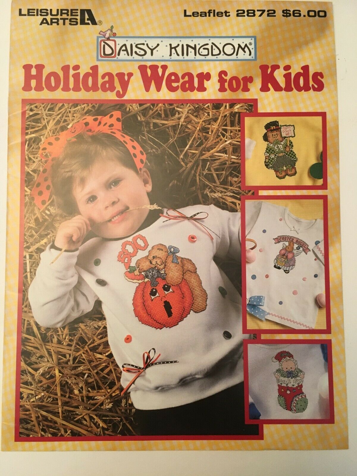 Daisy Kingdom Holiday Wear for Kids Counted Cross Stitch Patterns Leisure Arts - $3.00