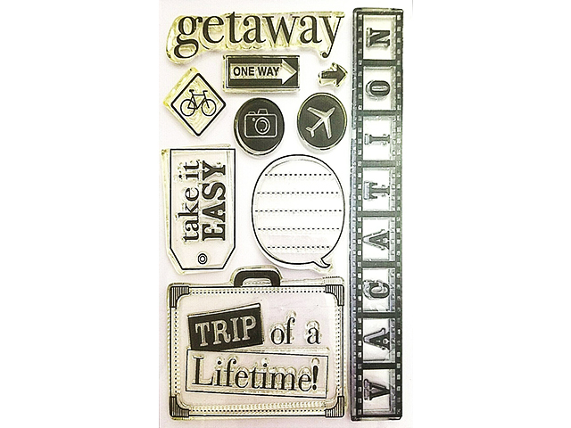 Travel Stamp Set - Trip of a Lifetime, Getaway, Vacation for Scrapbooking/Cards