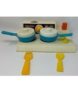 Vintage Fisher Price 1978 STOVE TOP Glow Magic Burners With Accessories ... - $34.15