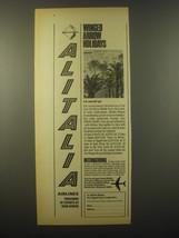 1965 Alitalia Airlines Ad - Winged arrow holidays - $14.99