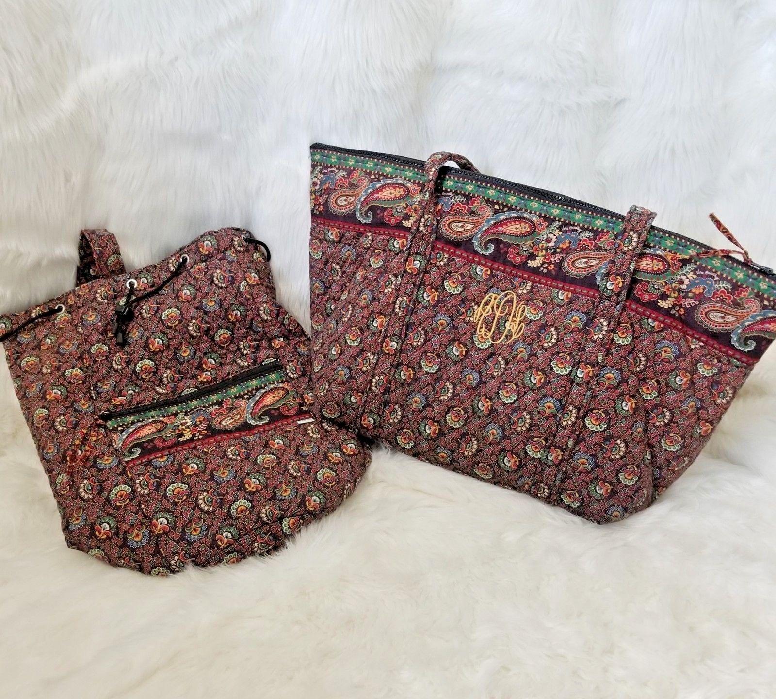 97f1fef27f Vntg set of 2 Vera Bradley Sling Backpack Vinyl Lining weekender carry all  -  70.13 · Advanced search for Vera Bradley Weekender Shoulder Bag