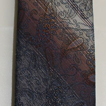 Allyn St. George Charcoal, Brown and Beige Tie - $11.99
