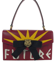 NWT GUCCI 466417 Future Bow Feline Head Leather Bag, Multi - $3,119.92