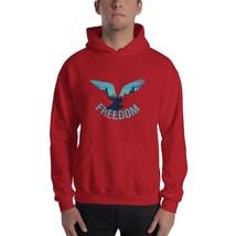 men freedom eagle Hooded Sweatshirt - $37.13+