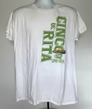 Bud Light Cinco de Mayo Lime A Rita  T Shirt Mens Large Cotton White  - $21.73