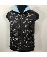 Patagonia Jacket Fleece Nylon Reversible Floral Paisley Ski Mountain Coa... - $59.99