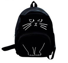 Womens Backpack Cute Lovely Cat Printing Ladies Casual Cute Rucksack Boo... - $19.99