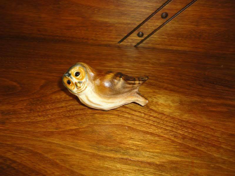 OOAK Chateau Leather Canada Artist Designed  OWL Figure image 3