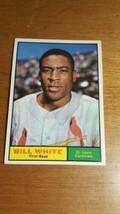 1961 Topps #232 Bill White Cardinals Nice card  - $4.95