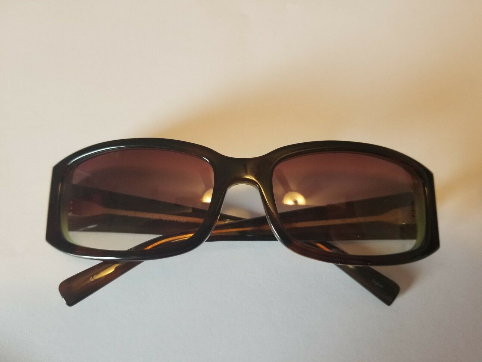 Vintage Oliver Peoples Jezebelle H Sunglasses  Brown Horn / Gold New PERFECT image 5