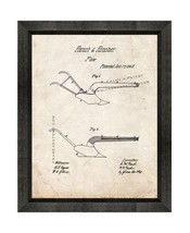 Plow Patent Print Old Look with Beveled Wood Frame - $24.95+