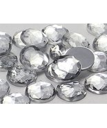 22mm Crystal Clear H102 Flat Back Round Acrylic Gems Pro Grade - 20 Pieces - $6.78