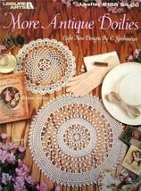 Leisure Arts More Antique Doilies Crochet 8 Designs by C Strohmeyer Leaf... - $6.60