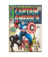Captain America Comic Wood Wall Art Home Decoration Theater Media Room M... - $29.95