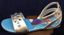 Disney Frozen Silver Jewel Sandals Silver Gladiator Style Rhinestones NEW - $17.50