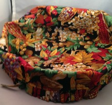 Longaberger Custom Made OE 2 Handle Cake Basket Liner - Flower Fabric - $19.55