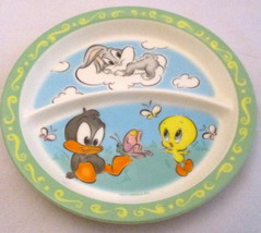 1998 Zak Designs Looney Tunes Baby Daffy Tweety Bugs Bunny Kid's Plate - $9.89