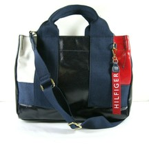 Tommy Hilfiger $108 NWT Black Red Crossbody Tote Hand Bag Small Magnetic... - $49.49
