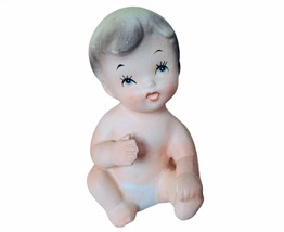 Piano Baby Inarco 1961 Japan Antique Porcelain Figurine vtg gift decor s... - $28.98