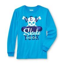 BASIC EDITIONS Boy's Graphic T Shirt Skateboard, Sky Blue, Medium (8) - $4.18
