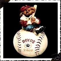 "Boyds Bearstone Ornament - ""McGwire..Its Outa Here"" #25717- Baseball- NIB -Retir - $19.99"