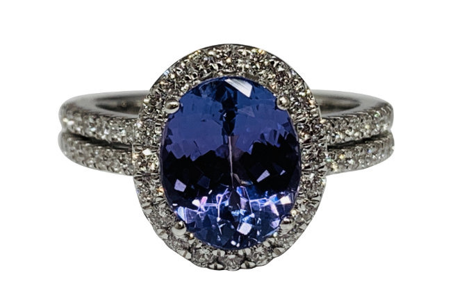 925 Sterling Silver Genuine Fine Quality Blue Sapphire And Cz Gemstone Handcraft